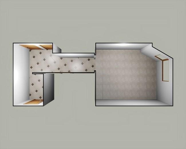 Сочетания двух типов плиток в разных комнатах