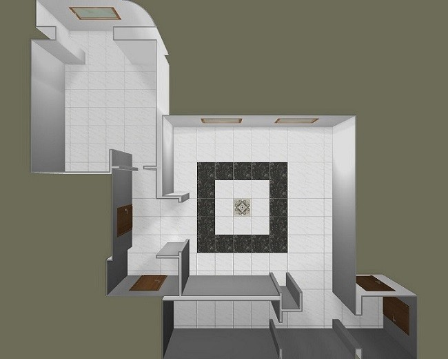 Раскладка плитки на полу в 3D